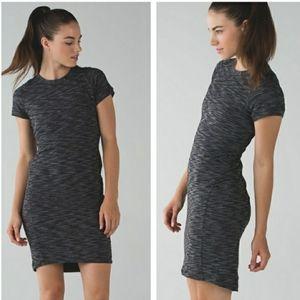Lululemon & go Where-To DressHeathered Black Size 8